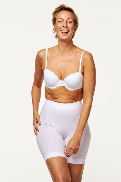 women's biker shorts firm control white white - 1000019528 - hema