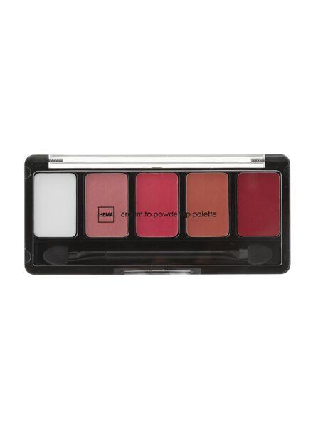 poudre à lèvres palette 01 - 11230901 - HEMA