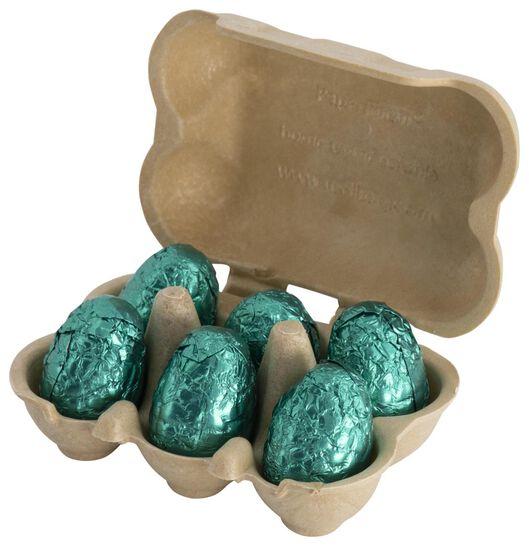 chocolade eitjes in een eierdoosje 78gram - 10051003 - HEMA