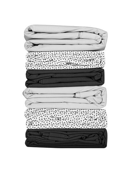 sheet - 240 x 260 - soft cotton - white dots - 5100030 - hema