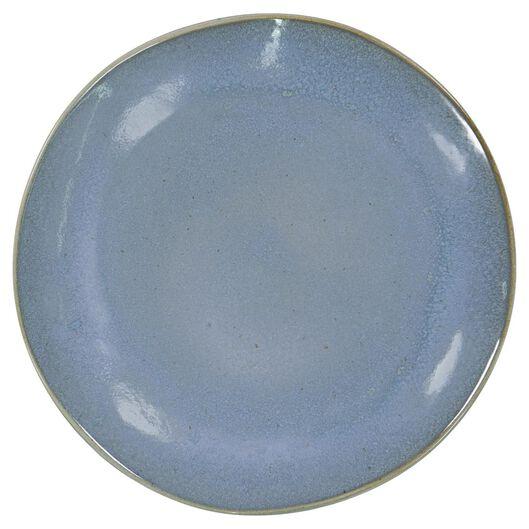 assiette plate - 26 cm - Porto - émail réactif - bleu - 9602021 - HEMA