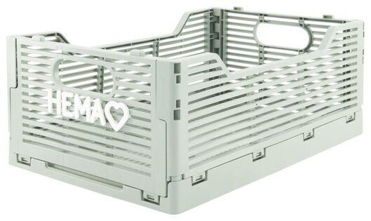 caisse pliante tableau recyclée 20x30x11.5 - argile vert menthe 20 x 30 x 11,5 - 39821033 - HEMA