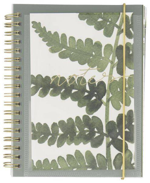 carnet 16,5x13 - feuilles - 14126683 - HEMA
