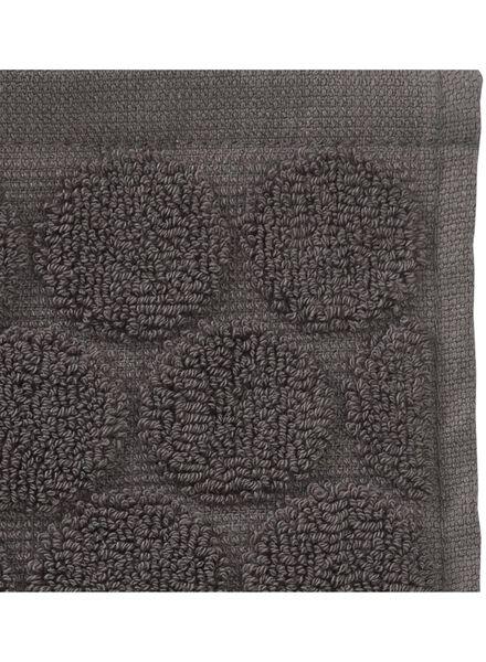 petite serviette - 30x55 cm - qualité épaisse - gris foncé pois - 5200055 - HEMA