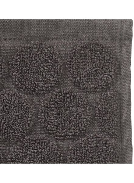 guest towel - 30 x 55 cm  - heavy quality - dark grey dot dark grey guest towel - 5200055 - hema