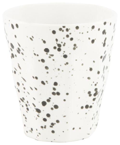 mug - 250 ml - Mirabeau matt - white splatters - 9602209 - hema