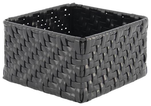 Aufbewahrungskorb, 14 x 14 x 8 cm, schwarz - 39811062 - HEMA