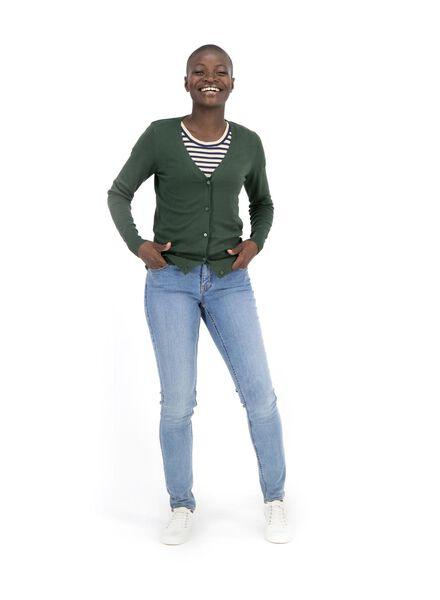 women's cardigan dark green dark green - 1000014785 - hema