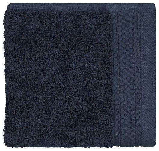 petite serviette 33x50 hôtel très épaisse - navy bleu foncé petite serviette - 5200198 - HEMA