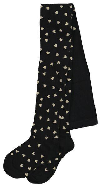 children's leggings small hearts black black - 1000020492 - hema