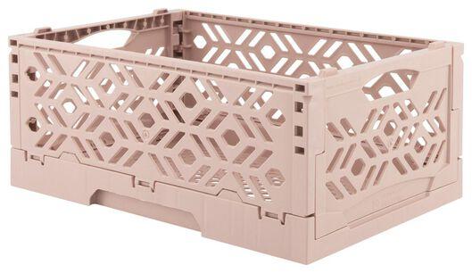 caisse pliante recyclée 24 x 16 x 9.5 cm - rose rose 24 x 16 x 9,5 - 39892903 - HEMA