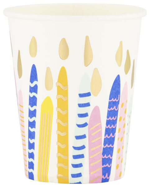8 paper cups 250 ml - birthday - 14230176 - hema