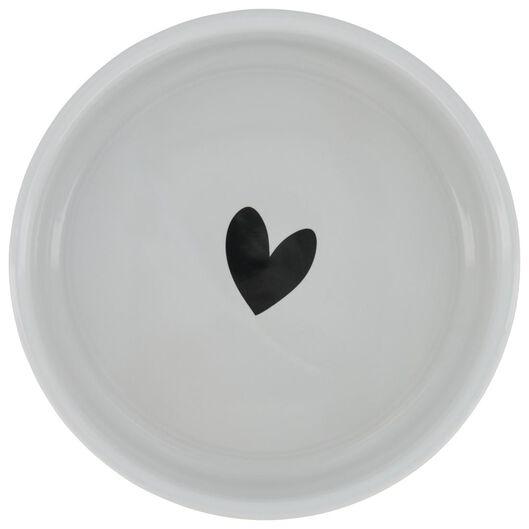 Hunde-Futterschale, Ø 16 x 6 cm, Keramik, schwarz/weiß - 61140183 - HEMA