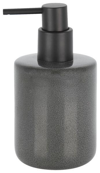 soap dispenser - 8x15cm - reactive ceramic - anthracite - 80310009 - hema