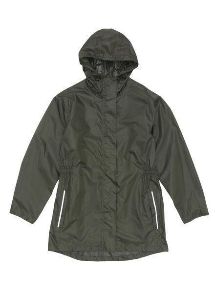 Regenjacke, faltbar grün S - 34480011 - HEMA