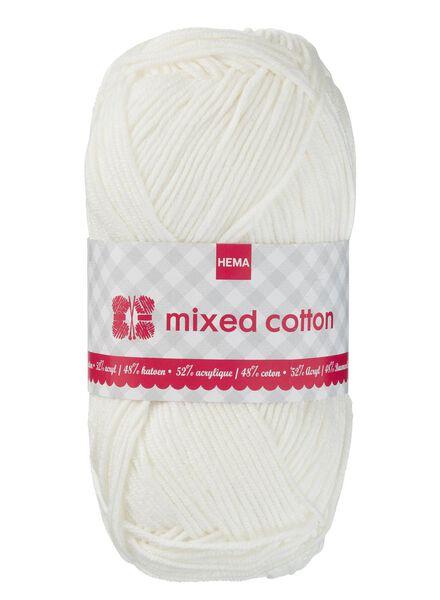 fil à tricoter coton mélangé - blanc cassé - 1400154 - HEMA