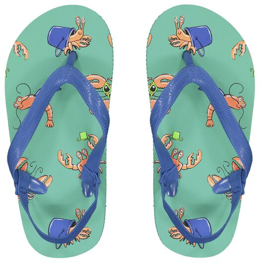 children's flip-flops crabs mint green mint green - 1000023099 - hema