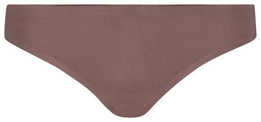 women's thong second skin micro brown brown - 1000018620 - hema