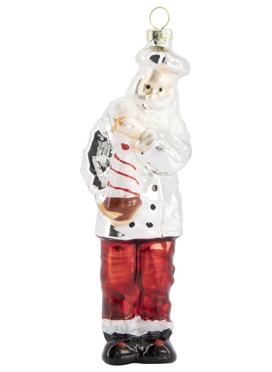 décoration de Noël en verre boulanger 4x4,5x13,5 - 25114825 - HEMA