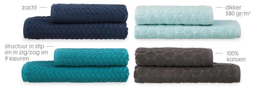 handdoeken zware kwaliteit met structuur