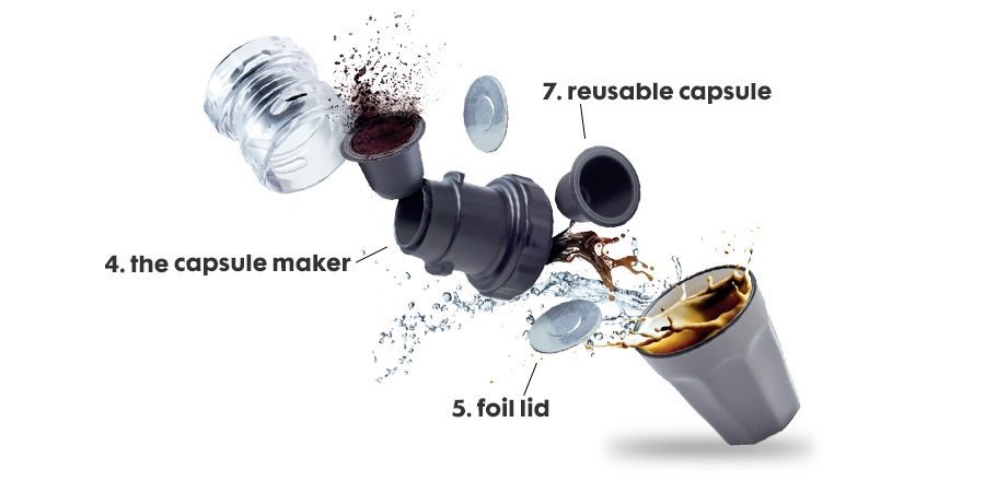 coffee capsule maker HEMA how-to