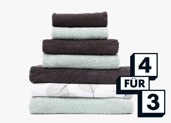 Handtücher 4 für 3